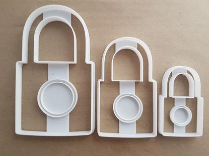 Padlock Shackle Yale Shape Cookie Cutter Dough Biscuit Pastry Fondant Stamp Stencil Sharp Door Lock Safe