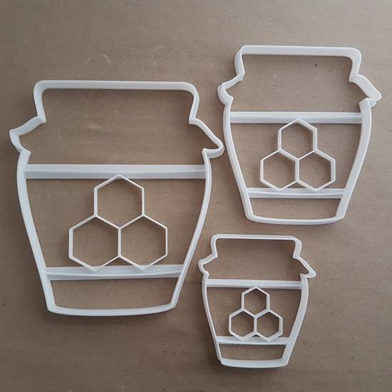 Honey Jar Food Nectar Shape Cookie Cutter Dough Biscuit Pastry Fondant Stamp Stencil Sharp Bee