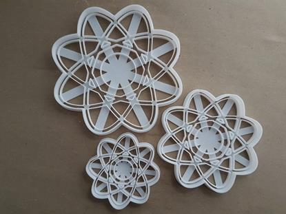 Atomic Whirl Symbol Atom Element Shape Cookie Cutter Dough Biscuit Pastry Fondant Stamp Stencil Sharp Science Maths Lab
