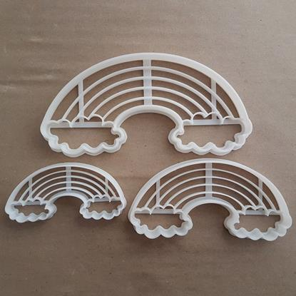 Rainbow Cloud Weather Shape Cookie Cutter Dough Biscuit Pastry Fondant Stamp Stencil Sharp Spectrum Stripe