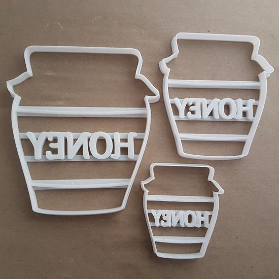 Honey Jar Market Bees Shape Cookie Cutter Dough Biscuit Pastry Fondant Stamp Stencil Sharp Food Nectar Pot