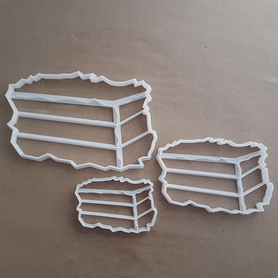 Hay Bale Grass Farm Graze Shape Cookie Cutter Dough Biscuit Pastry Fondant Stamp Stencil Sharp Straw Farmer Field Garden