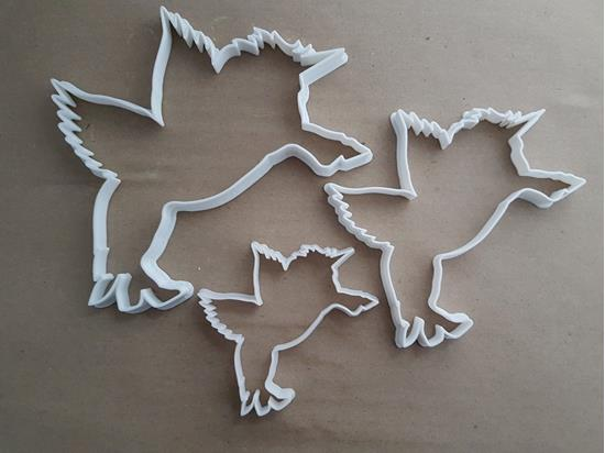 Unicorn Legend Horn Shape Cookie Cutter Dough Biscuit Pastry Fondant Stamp Stencil Sharp Creature Animal Flying