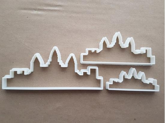 Angkor Wat Temple Monument Shape Cookie Cutter Dough Biscuit Fondant Sharp Stencil Cambodia Building Icon Landmark