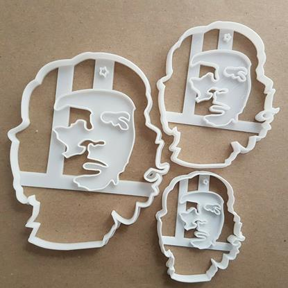 Che Guevara Portrait Icon Shape Cookie Cutter Dough Biscuit Pastry Fondant Stamp Stencil Sharp Famous Face