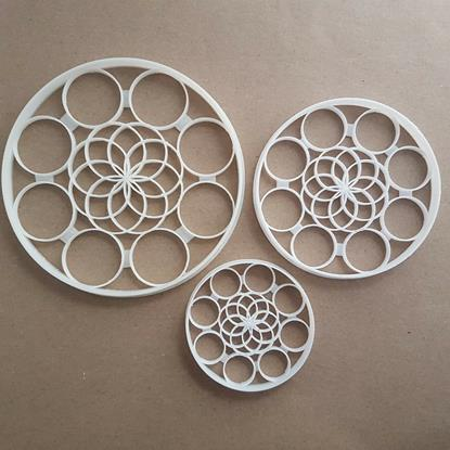 Pattern Circle Repeat Shape Cookie Cutter Dough Biscuit Pastry Fondant Stamp Stencil Sharp Geometric Print Bubbles