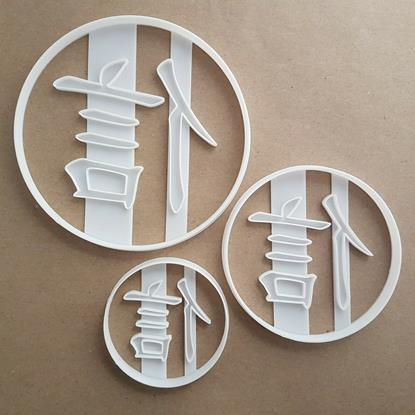 Chinese Faith Language Shape Cookie Cutter Dough Biscuit Pastry Fondant Stamp Stencil Sharp Symbol Letter Word
