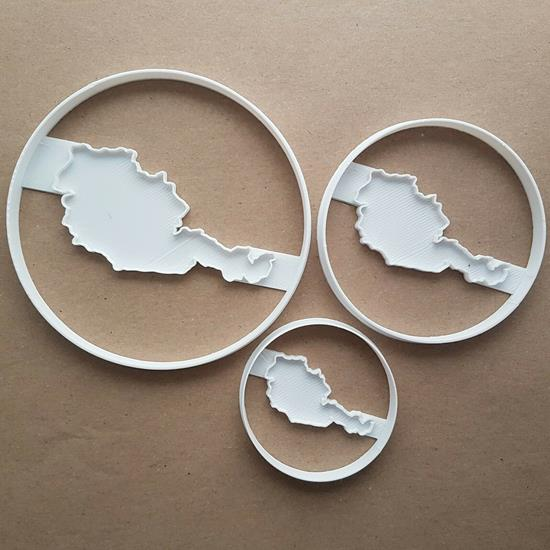 Austria Map Country World Shape Cookie Cutter Dough Biscuit Pastry Fondant Stamp Stencil Sharp Atlas Outline Austrian