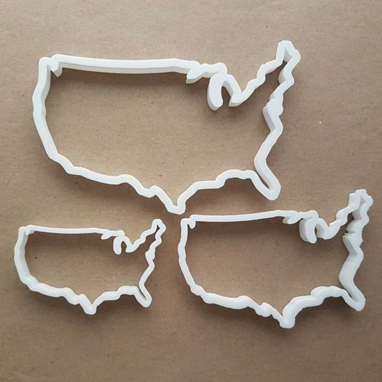 USA America Map States Shape Cookie Cutter Dough Biscuit Pastry Fondant Stamp Sharp Stencil United States of America Atlas