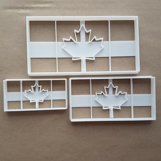 Canadian Flag Country Shape Cookie Cutter Dough Biscuit Pastry Stamp Sharp Stencil Canada Maple Leaf