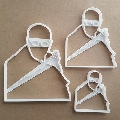 Dalai Lama Portrait Icon Shape Cookie Cutter Dough Biscuit Pastry Fondant Stamp Stencil Sharp Famous Spiritual Leader Buddhism