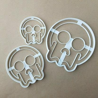 Halloween Skull Happy Shape Cookie Cutter Dough Biscuit Pastry Fondant Stamp Scary Spooky Sharp Stencil Skeleton