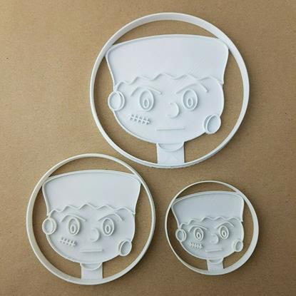 Halloween Frankenstein Shape Cookie Cutter Dough Biscuit Pastry Fondant Stamp Head Scary Spooky Monster Sharp Stencil