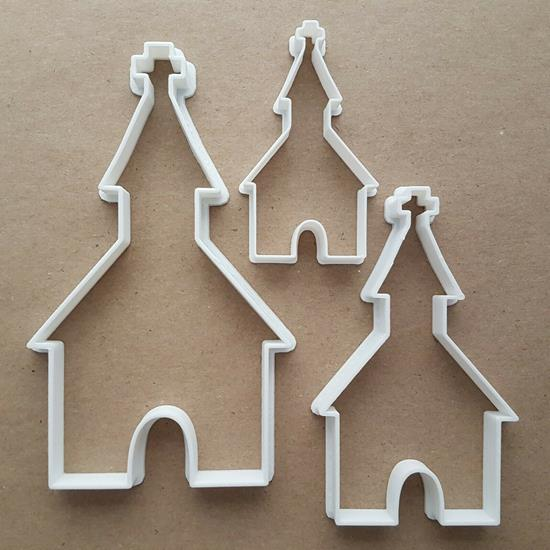 Church Religion Cross Shape Cookie Cutter Dough Biscuit Pastry Fondant Stamp Stencil Sharp Building Chapel Xmas Christianity