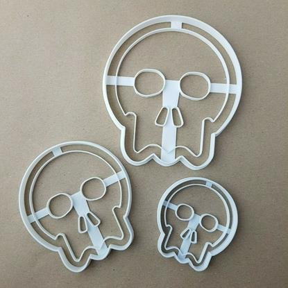 Scary Halloween Skull Shape Cookie Cutter Dough Biscuit Pastry Fondant Stamp Stencil Sharp Skeleton Spooky