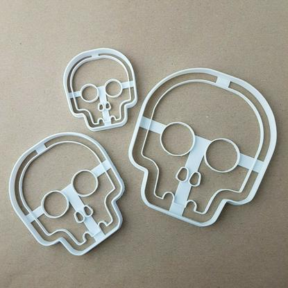 Skull Halloween Spooky Shape Cookie Cutter Dough Biscuit Pastry Fondant Stamp Stencil Sharp Skeleton Scary