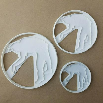 Crawling Zombie Halloween Shape Cookie Cutter Dough Biscuit Pastry Fondant Stamp Spooky Scary Stencil Sharp