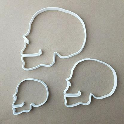 Skeleton Halloween Skull Shape Cookie Cutter Dough Biscuit Pastry Fondant Stamp Stencil Sharp Spooky Scary