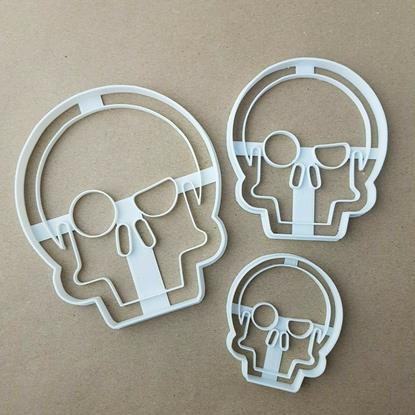 Pirate Skull Halloween Shape Cookie Cutter Dough Biscuit Pastry Fondant Stamp Stencil Sharp Spooky Scary Skeleton