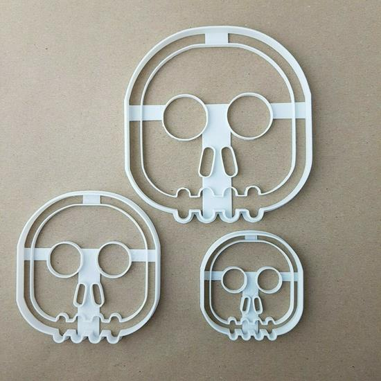 Skull Halloween Scary Shape Cookie Cutter Dough Biscuit Pastry Fondant Stamp Stencil Sharp Skeleton Spooky