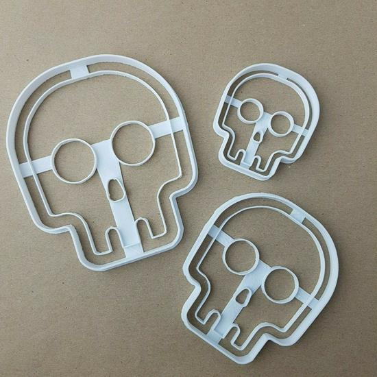 Spooky Skull Halloween Shape Cookie Cutter Dough Biscuit Pastry Fondant Stamp Stencil Sharp Scary Skeleton